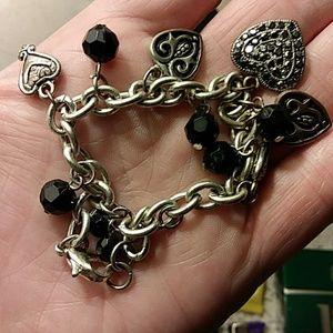 Jewelry - Beautiful Black/ Silver Charm Bracelet
